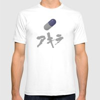 Akira (Blue) Mens Fitted Tee White SMALL