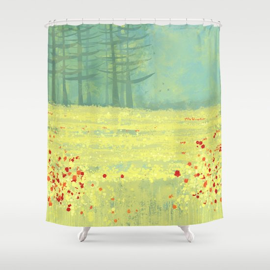 Meadow Near Perigueux Shower Curtain By Nic Squirrell