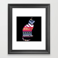 Tribal Feline Framed Art Print