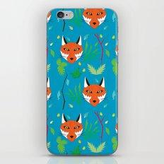 Forest Fox Print iPhone & iPod Skin