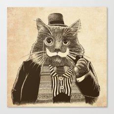 Mustache Cat Canvas Print