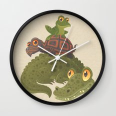 Swamp Squad Wall Clock