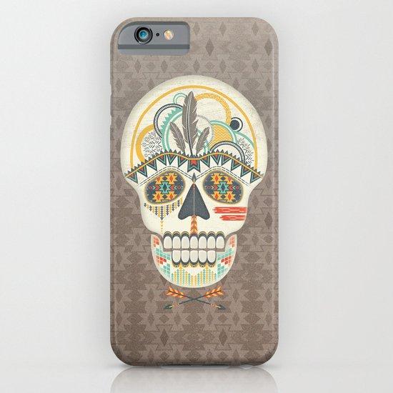 AZTEC SKULL B/W  iPhone & iPod Case