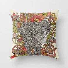 Bo the elephant Throw Pillow