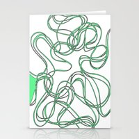 Tyre in green Stationery Cards