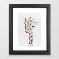 The Intellectual Giraffe Framed Art Print