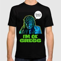 Old Gregg Mens Fitted Tee Black SMALL