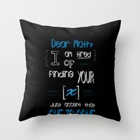 Dear Math (blue)  Throw Pillow