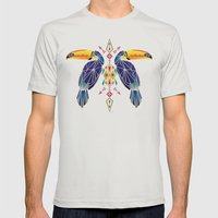 toucan Mens Fitted Tee Silver SMALL