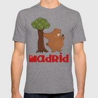 MADRID: Bear and Madrono (v.2) Mens Fitted Tee Tri-Grey SMALL