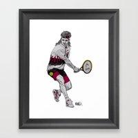 Tennis Agassi Framed Art Print