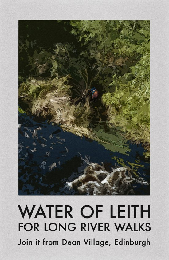 WATER OF LEITH FOR LONG RIVER WALKS Art Print