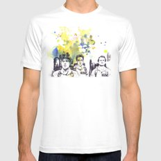 Ghostbusters Peter Venkman, Egon Spengler, Raymond Stantz SMALL Mens Fitted Tee White
