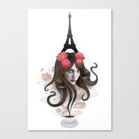 RECUERDA PARÍS Canvas Print