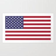 Art Print featuring USA National Flag - Auth… by BruceStanfieldArtist…