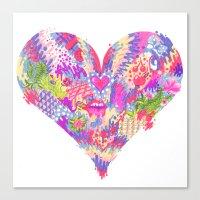 Radioactive Heart Canvas Print