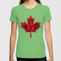 O Canada Womens Fitted Tee Grass SMALL