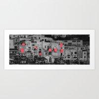red sheets Art Print