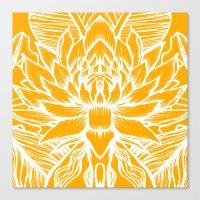 Golden Yellow Lotus Canvas Print