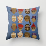 Wes Anderson Hats Throw Pillow
