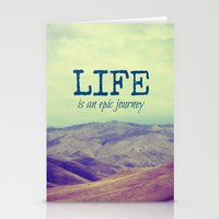 Life Is An Epic Journey Stationery Cards