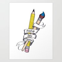 Art Print featuring Creativity Takes Courage by Eric Weiand