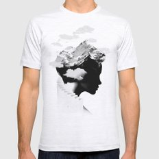 It's A Cloudy Day Mens Fitted Tee Ash Grey SMALL