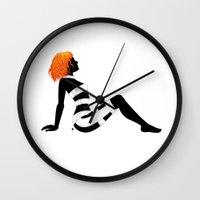 Leeloo Dallas Mudflap Wall Clock