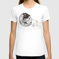 Skull study Womens Fitted Tee White SMALL