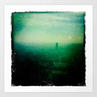 Le Naked City Art Print
