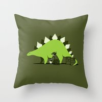 Crude Oil Comes From Din… Throw Pillow