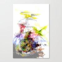 Flying Home (Glitch Remi… Canvas Print