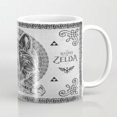 Legend of Zelda Twilight Wolf Link Line Art Mug