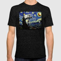 Starry Night Versus The … Mens Fitted Tee Tri-Black SMALL