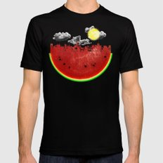 Watermelon City Mens Fitted Tee Black SMALL