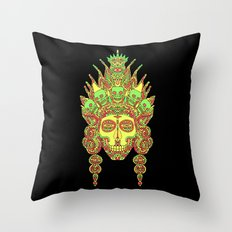 Eternal Death and her family/ Eternal Life and her family in the mirror of creation I Throw Pillow
