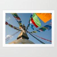 Boudhanath Stupa Art Print