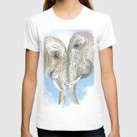 elephants T-shirts featuring Elephants by Isabel Sobregrau
