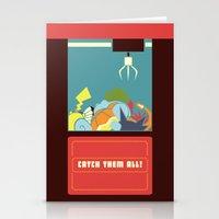 Claw Machine Stationery Cards