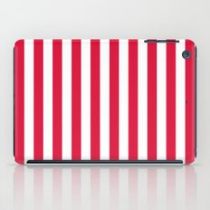 Vertical Stripes (Crimson/White) iPad Case