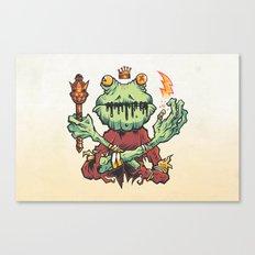FROG KING Canvas Print
