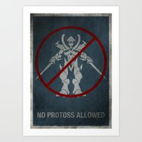 No Protoss allowed Art Print