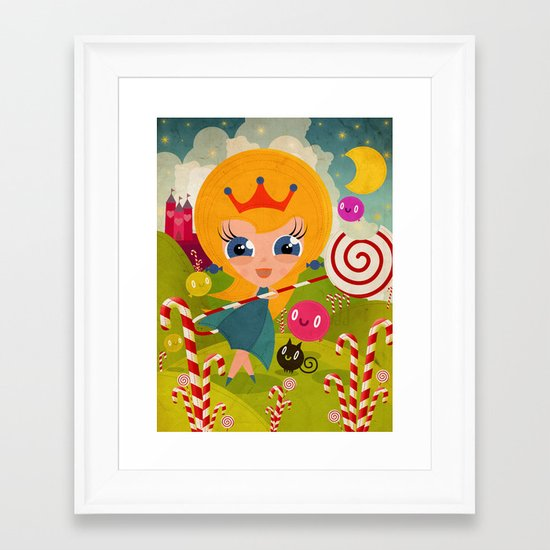 Caramel Princess Framed Art Print