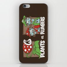 Plants Vs Plumbers  iPhone & iPod Skin