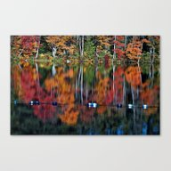 Reflection With Floats Canvas Print