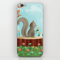Woodland Friends - Squirrel iPhone & iPod Skin