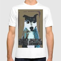 Blue Dog Mens Fitted Tee White SMALL
