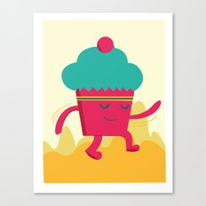 Dancing Cupcake Canvas Print