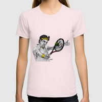 Tennis Federer Womens Fitted Tee Light Pink SMALL