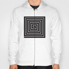 Black & White Spiral Hoody